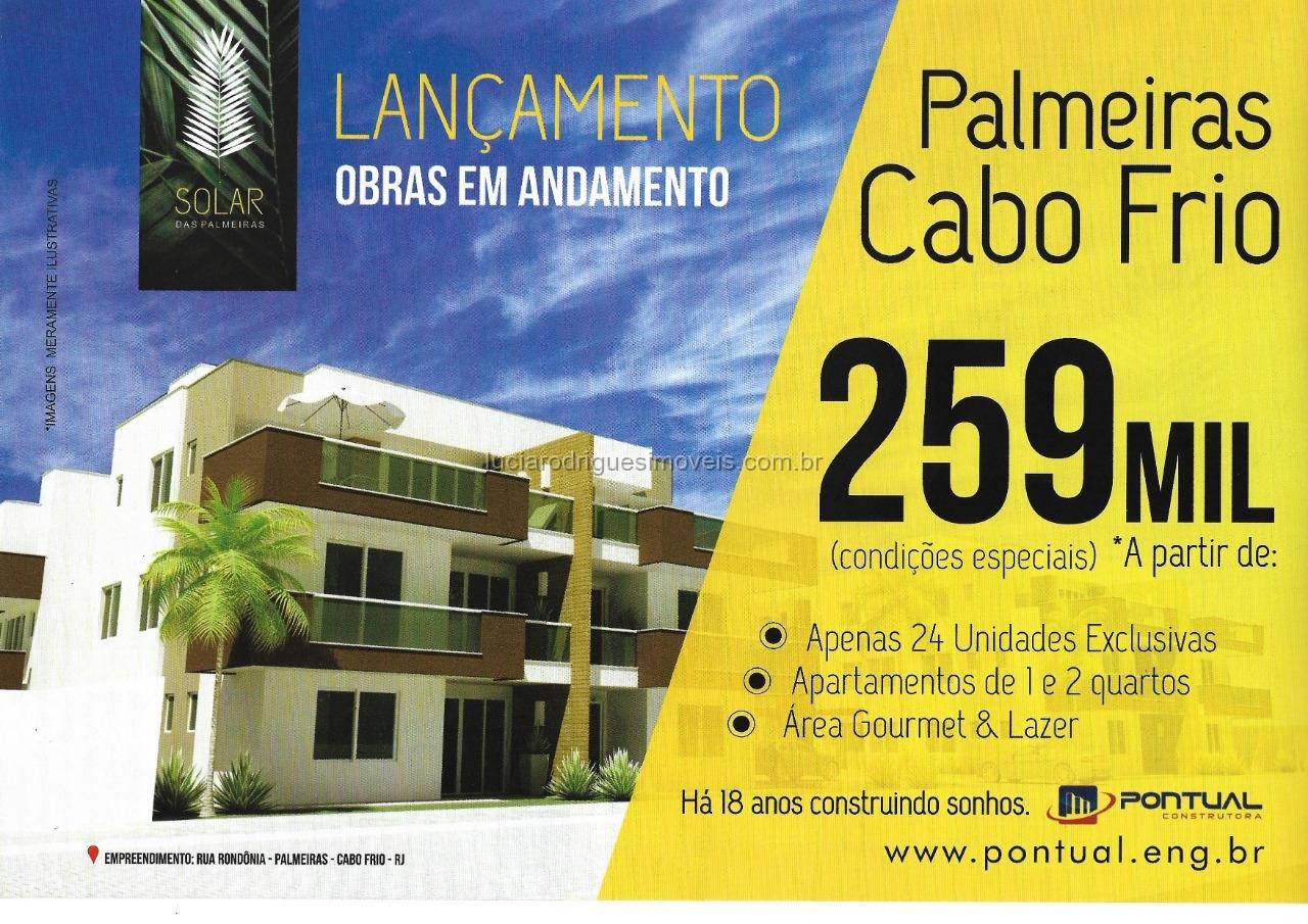 Condomínio 01 e 02 quartos – Palmeiras – Cabo Frio